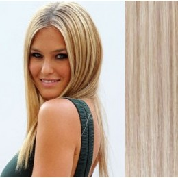 "16"" (40cm) Tape Hair / Tape IN human REMY hair - platinum/light brown"