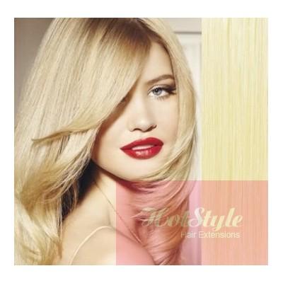50cm Tape vlasy / Tape IN - nejsvětlejší blond