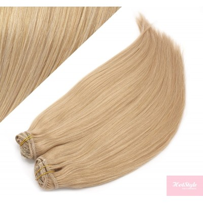 70cm DELUXE clip in sada - přírodní blond