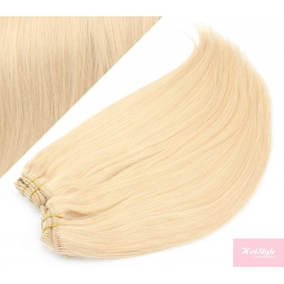 70cm DELUXE clip in sada - nejsvětlejší blond
