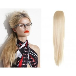 "Claw ponytail 24"" straight - platinum blonde"