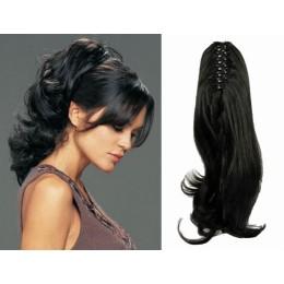 """Claw ponytail 24"""" wavy - black"""