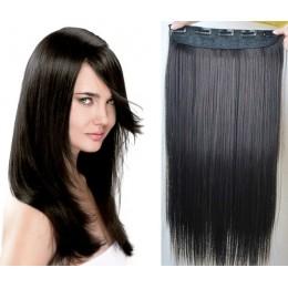 Clip vlasový pás remy 43cm rovný – přírodní černá
