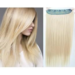 Clip vlasový pás remy 43cm rovný – platina