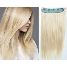 Clip vlasový pás remy 63cm rovný – platina