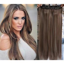Clip vlasový pás remy 63cm rovný – tmavý melír