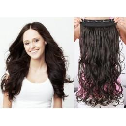Clip vlasový pás remy 43cm vlnitý – přírodní černá