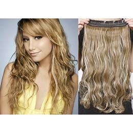 Clip vlasový pás remy 43cm vlnitý – světlý melír