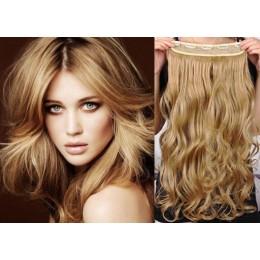 Clip vlasový pás remy 43cm vlnitý – přírodní / světlejší blond