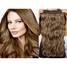 Clip vlasový pás remy 63cm vlnitý – středně hnědá