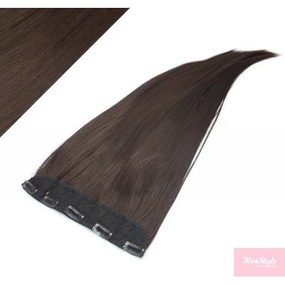 Clip rychlopás japonský kanekalon 63cm rovný – tmavě hnědý