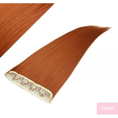 Clip rychlopás japonský kanekalon 63cm rovný – měděná
