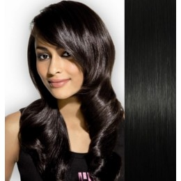"28"" (70cm) Clip in human REMY hair - black"