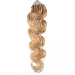 60cm micro ring / easy ring vlasy vlnité - přírodní blond