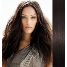 40cm clip in REMY vlasy evropského typu 100g - přírodní černá