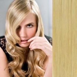 40cm clip in REMY vlasy evropského typu 100g - přírodní blond