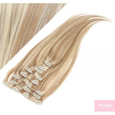 40cm clip in REMY vlasy evropského typu 100g - světlý melír
