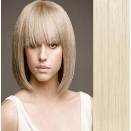 Clip in human hair remy bang/fringe – platinum blonde