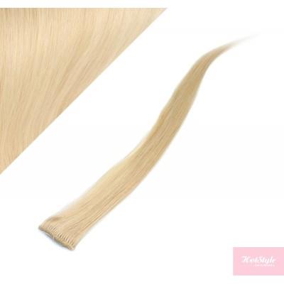 50cm clip in pramínek, 6ks - blond