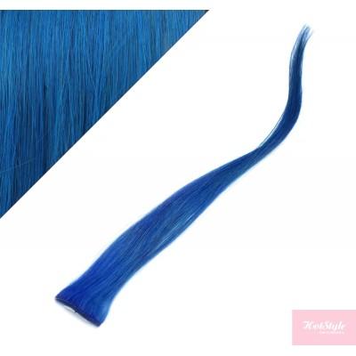 50cm clip in pramínek, 6ks - modrá