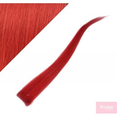 50cm clip in pramínek, 6ks - červená