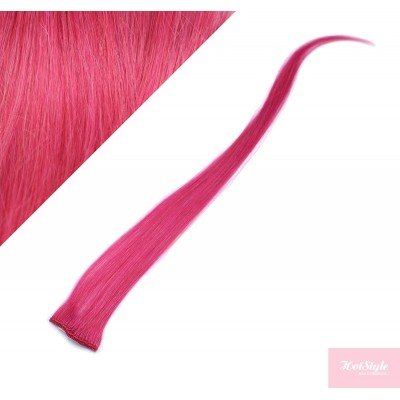 50cm clip in pramínek, 6ks - růžová