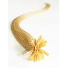 "20"" (50cm) Nail tip / U tip human hair pre bonded extensions – natural blonde"