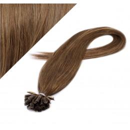 60cm vlasy na keratin - světlejší hnědá