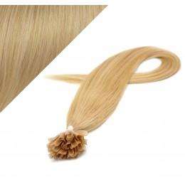 60cm vlasy na keratin - přírodní blond