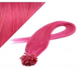 60cm vlasy na keratin - růžová