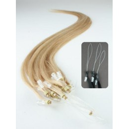 "20"" (50cm) Micro ring human hair extensions – natural blonde"