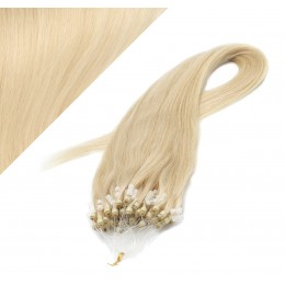 50cm micro ring / easy ring vlasy - nejsvětlejší blond