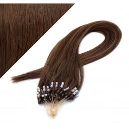 60cm micro ring / easy ring vlasy - středně hnědá