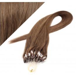 60cm micro ring / easy ring vlasy - světlejší hnědá
