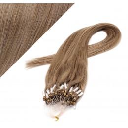 60cm micro ring / easy ring vlasy - světle hnědá