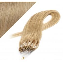 60cm micro ring / easy ring vlasy - přírodní blond