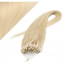 60cm micro ring / easy ring vlasy - nejsvětlejší blond