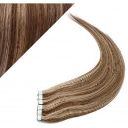 40cm Tape vlasy / Tape IN - tmavý melír