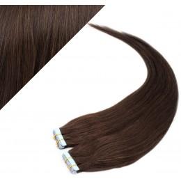 50cm Tape vlasy / Tape IN - tmavě hnědá