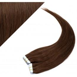 50cm Tape vlasy / Tape IN - středně hnědá