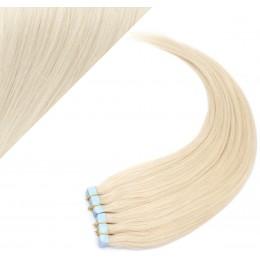 60cm Tape vlasy / Tape IN - platina
