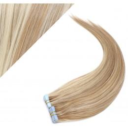 60cm Tape vlasy / Tape IN - světlý melír