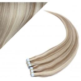 60cm Tape vlasy / Tape IN - platina / světle hnědá