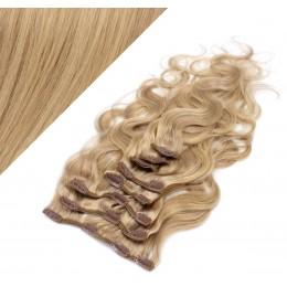 50cm clip in vlnité vlasy evropského typu REMY - přírodní / světlejší blond