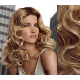 """20"""" (50cm) Clip in wavy human REMY hair - light blonde/natural blonde"""