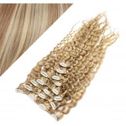 50cm clip in kudrnaté vlasy evropského typu REMY - světlý melír