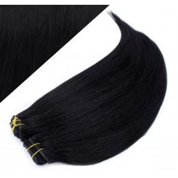 40cm DELUXE clip in sada - černá