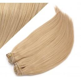 40cm DELUXE clip in sada - přírodní blond