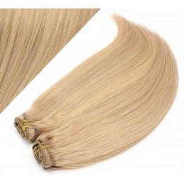 50cm DELUXE clip in sada - přírodní / světlejší blond