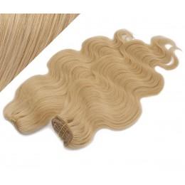 50cm DELUXE vlnitá clip in sada - přírodní blond
